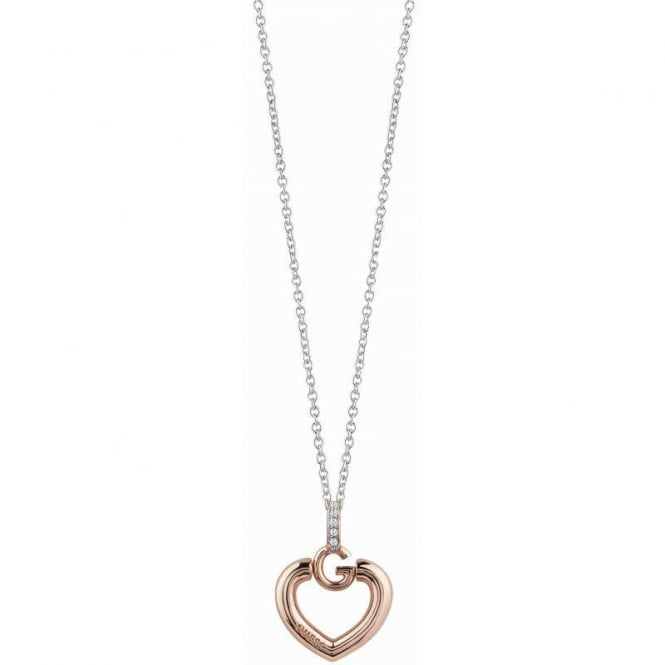 Guess Jewellery Gisel Bold G Heart Necklace UBN83011