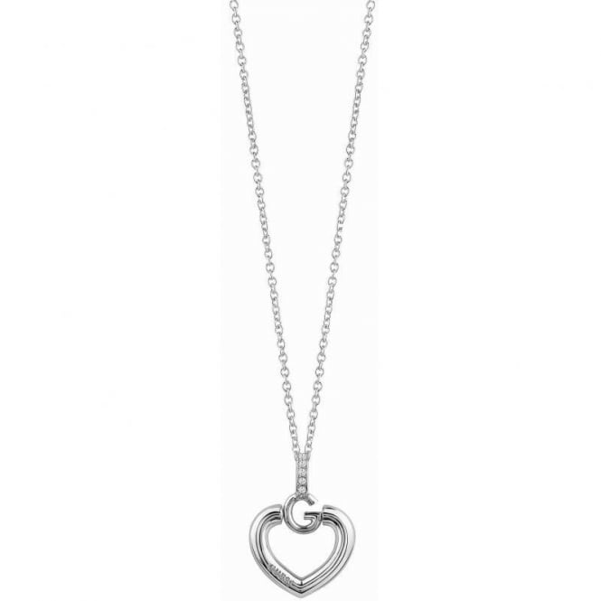 Guess Jewellery Gisele Bold G Heart Necklace UBN83009