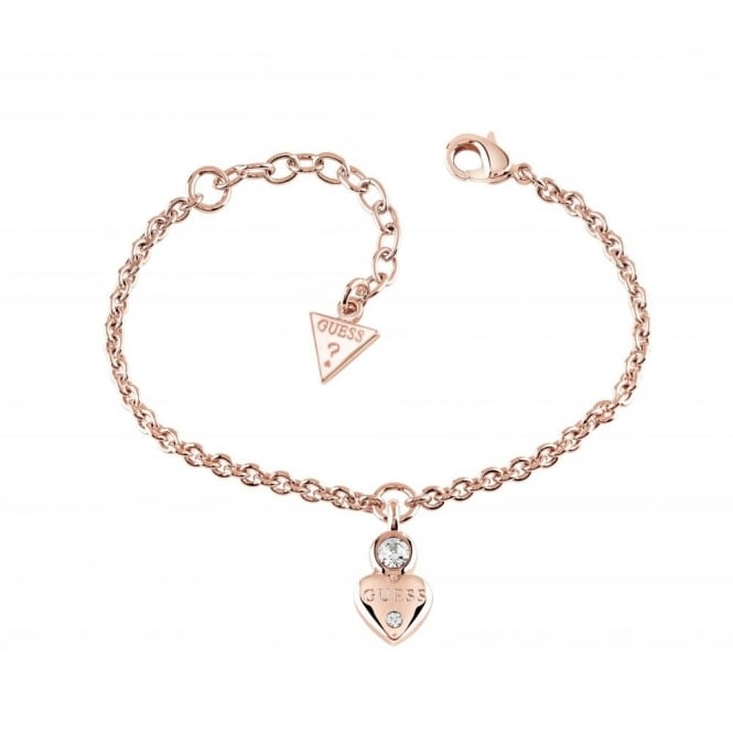 Guess Jewellery Guessy Little Heart Charm Bracelet UBB82012-L
