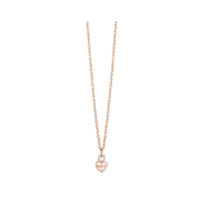 Guess Jewellery Guessy Little Heart Charm Necklace UBN82012