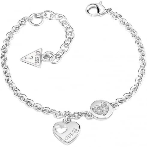 Guess Jewellery Heart Devotion Bracelet UBB82057-L
