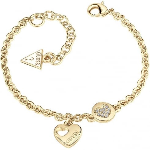 Guess Jewellery Heart Devotion Sparkle Bracelet UBB82058-L