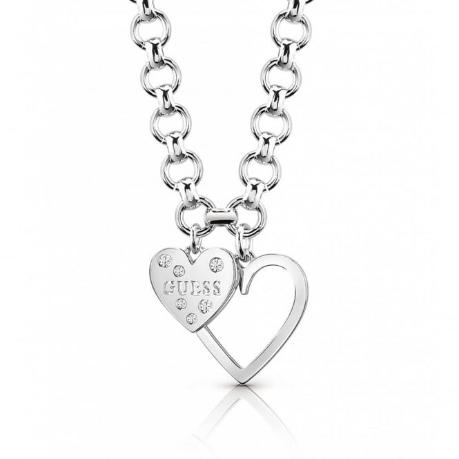Guess Jewellery Heart In Heart Necklace UBN84012