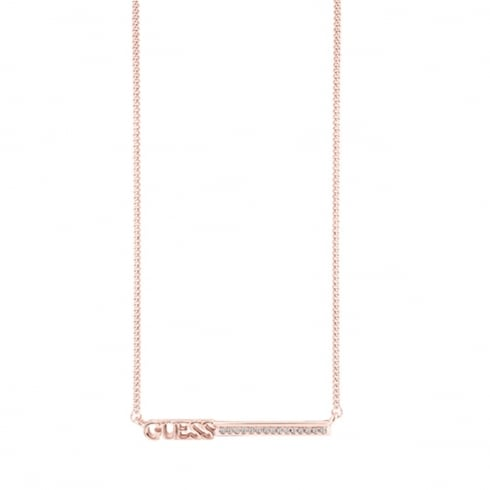 Guess Jewellery Linear Logo Necklace UBN82035