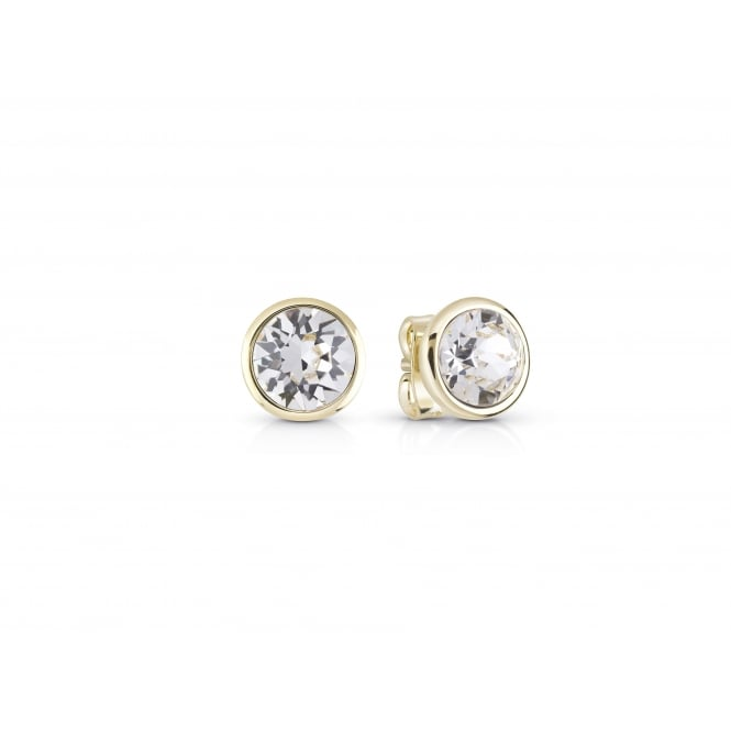 Guess Jewellery Miami Clear Crystal Stud Earrings UBE83051