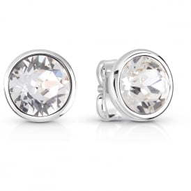 Guess Jewellery Miami Clear Crystal Stud Earrings UBE83059