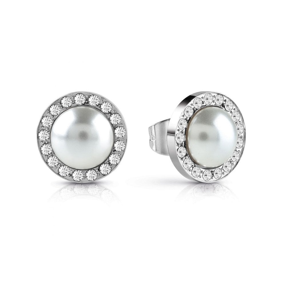 c351eaca619f3 Guess Jewellery Guess Jewellery Never Without Pearl Crystal Earrings  UBE28081