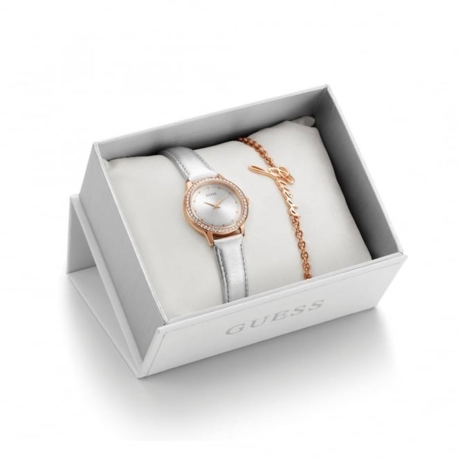 Guess Ladies' Chelsea Watch And Bracelet Box Set UBS82107-L