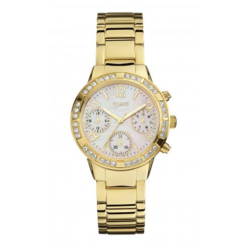 Guess Ladies' Mini Glam Hype Chronograph Watch W0546L2
