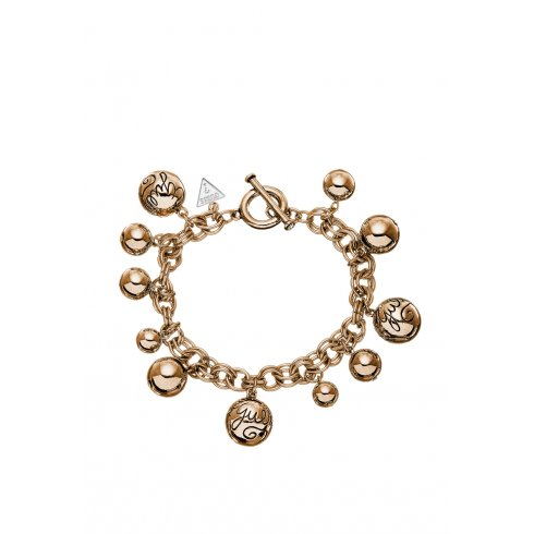 Guess Jewellery Guess Ladies' Rose Gold Bauble Bracelet - UBB51201