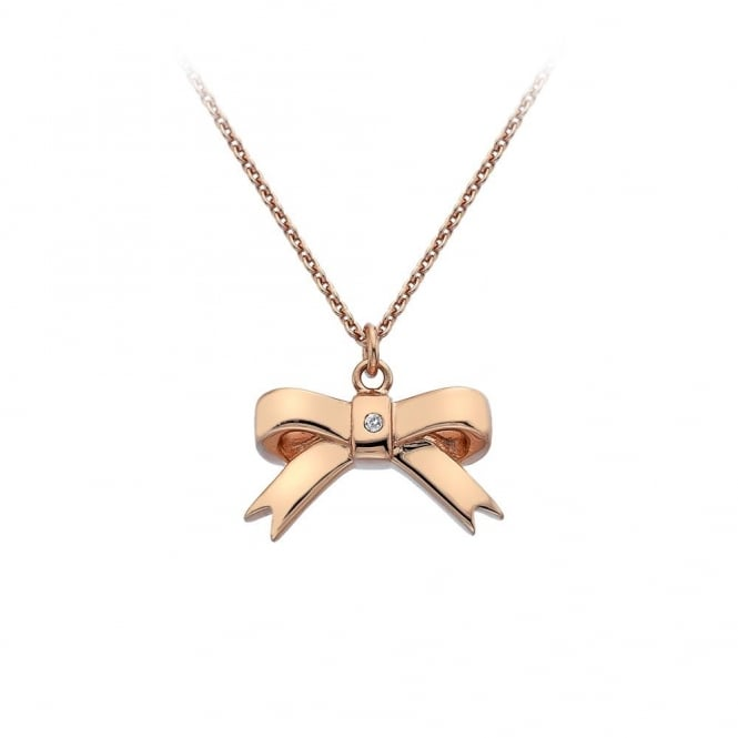 Hot Diamonds Hot Diamnonds Rose Gold Plated Ribbon Pendant DP631