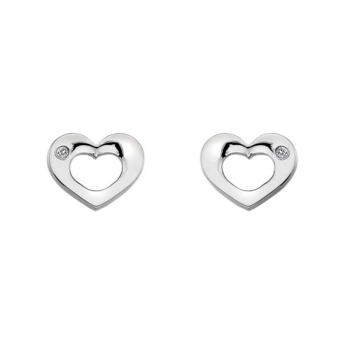 Hot Diamonds Emerge Open Heart Earrings DE434