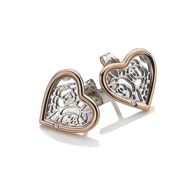 Hot Diamonds Faith Heart Earrings DE530