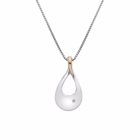 Hot Diamonds Journey Silver & Rose Gold Plated Pendant DP632