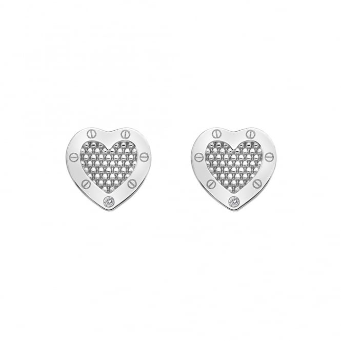 Hot Diamonds Lock in Love Earrings DE528