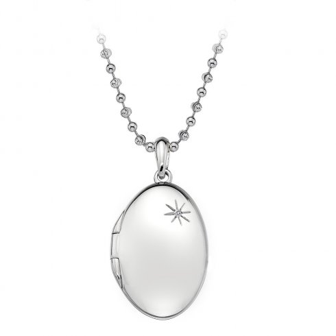 Hot Diamonds Memoirs Oval Locket Pendant DP493