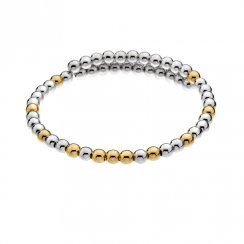Hot Diamonds Silver & Gold Gold Plate Wrap Bangle DC154