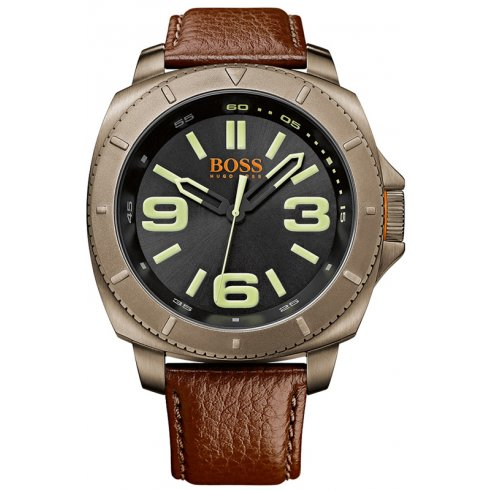 Hugo Boss Orange Hugo Boss Men's Brown Strap Watch 1513164