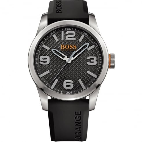 Hugo Boss Orange Men's Paris Black Resin Strap Watch 1513350