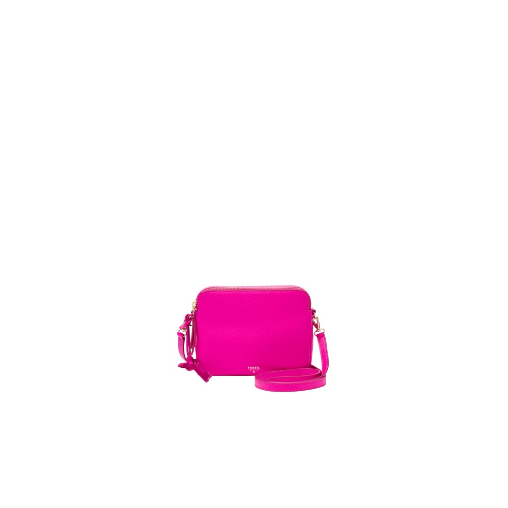 Las 039 Fossil Sydney Crossbody Hot Pink Leather Handbag Zb5951694