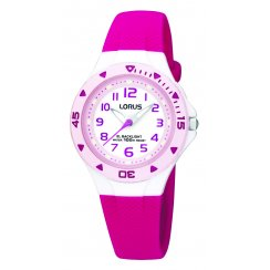Lorus Kids Pink Strap Watch R2339DX9