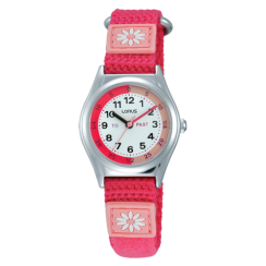 Lorus Kid's Time Teacher Pink Strap Watch RG253KX9