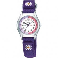 Lorus Kids' Time Teacher Purple Strap Watch RG251KX9