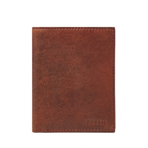 Fossil Leathers Men's Fossil Ingram Wine Leather Travel Wallet ML353159609