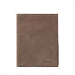 Men's Fossil Nova Brown Leather Travel Wallet ML343359200