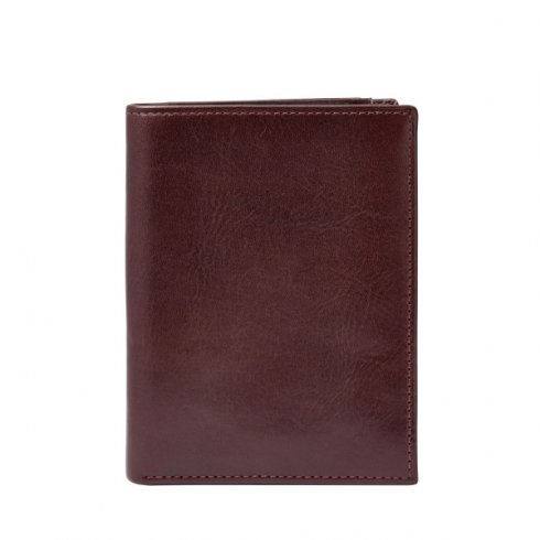 Fossil Leathers Men's Fossil Truman Brown Leather Money Travel Wallet Wallet ML3539603