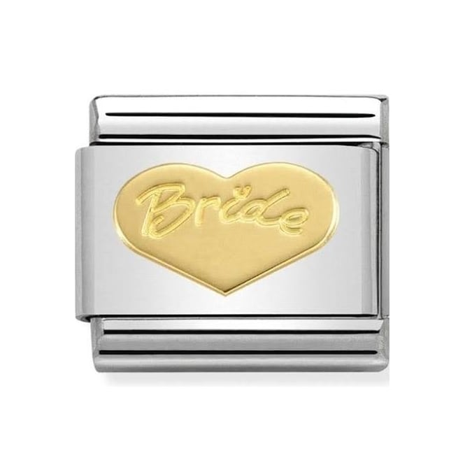 Nomination Classic 18ct Gold Bride Heart Charm 030162/33