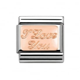 Nomination Classic 9ct Rose Gold I Love You Charm 430101/30