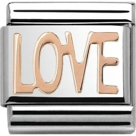 Nomination Classic 9ct Rose Gold Love Charm 430107/01