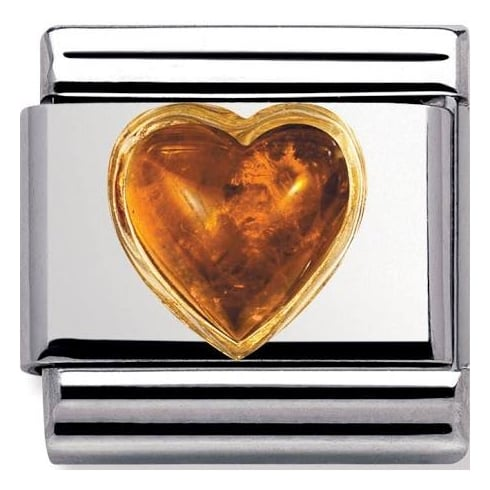 Nomination Classic Amber Heart Charm 030501/01