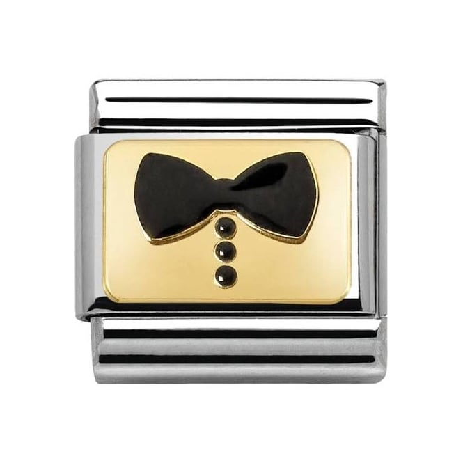 Nomination Classic Black Bow Tie Charm 030280/34