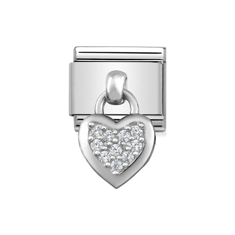 Nomination Classic CZ Heart Charm 331800 01 - Jewellery from Lowry ... b8404ab8a89d