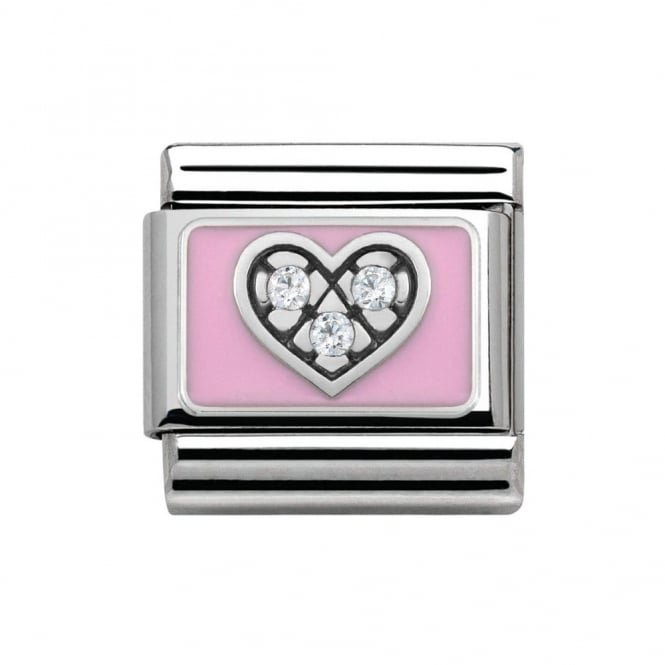 Nomination Classic CZ Pink Heart Charm 330306/06