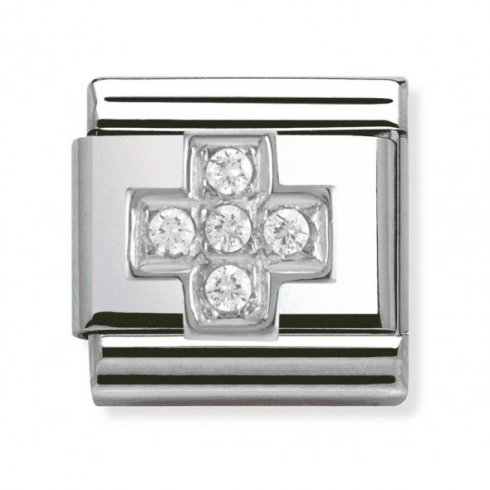 Nomination Classic CZ Silver Cross Charm 330304/03