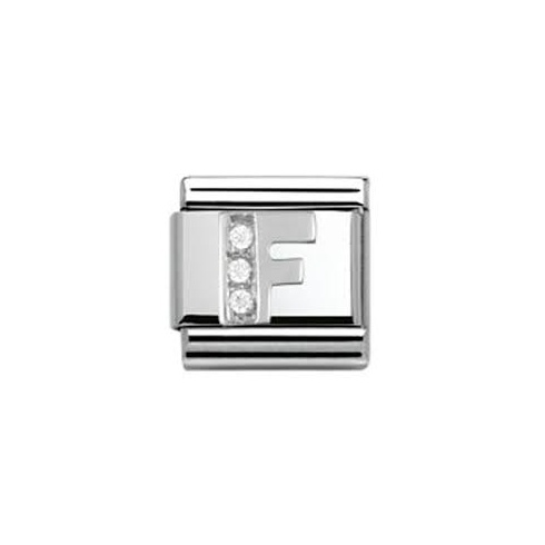 Nomination Classic CZ Silver Letter F Charm 330301/06