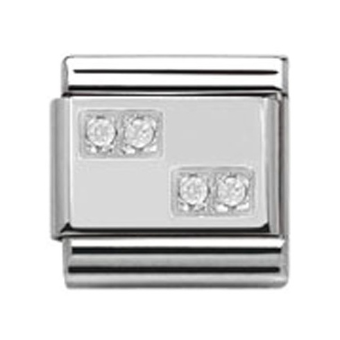 Nomination Classic CZ Silver Plate Charm 330304/08