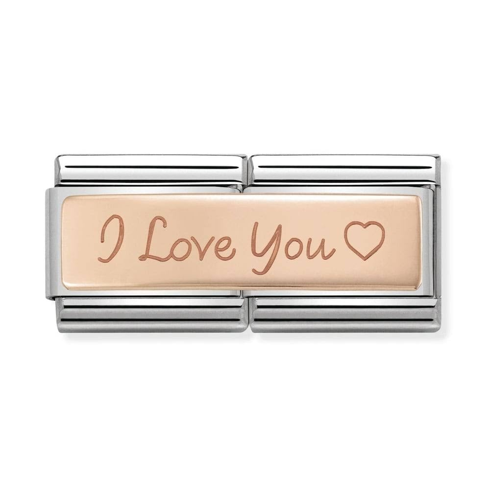 Nomination Classic Double Rose Gold I Love You Charm 430710 04 ... 64986952c1