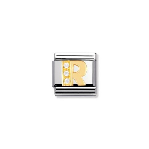 Nomination Classic Letter R Cubic Zirconia Charm 030301/18