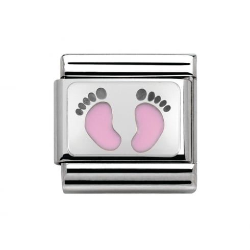Nomination Classic Pink Footprints Charm 330208/14