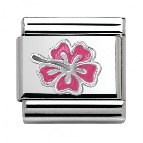 Nomination Classic Pink Hibiscus Charm 330202/24
