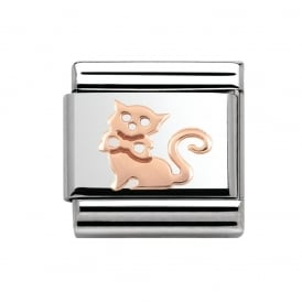Nomination Classic Rose Gold Cat Charm 430104/11