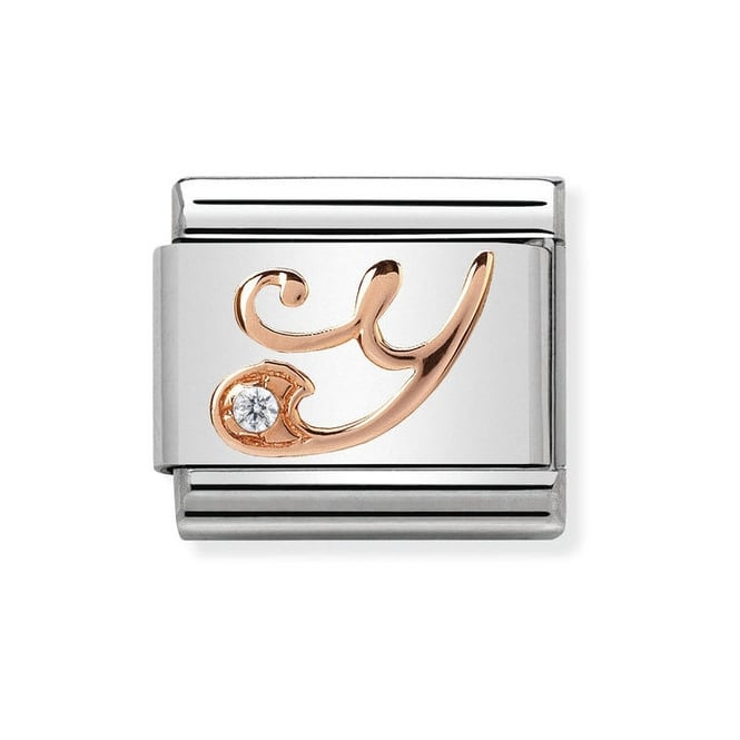Nomination Classic Rose Gold & CZ Letter Y Charm 430310/25