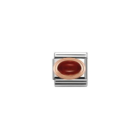 Nomination Classic Rose Gold Garnet Charm 430502/03
