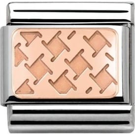 Nomination Classic Rose Gold Houndstooth Charm 430101/04