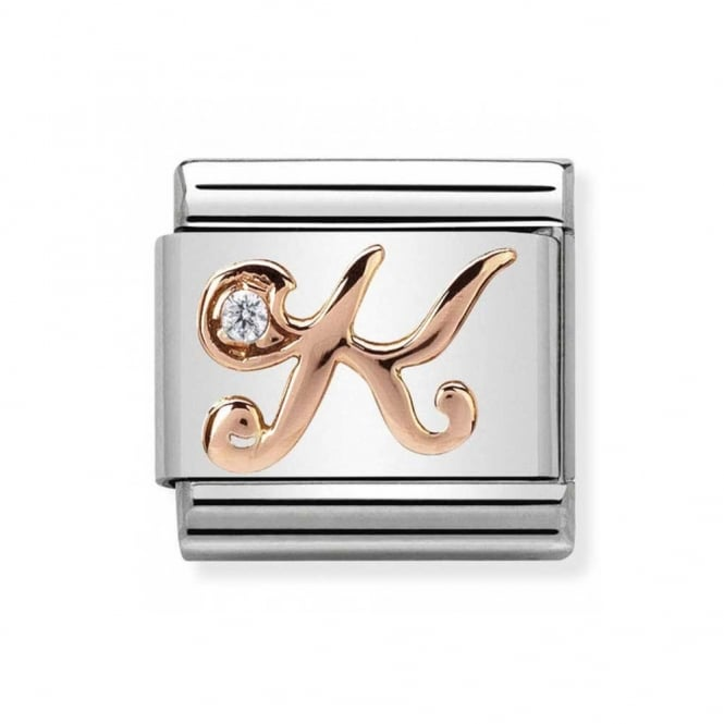 Nomination Classic Rose Gold Letter K Charm 430310/11