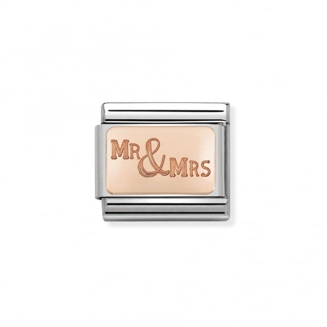 Nomination Classic Rose Gold Mr & Mrs Plate Charm 430101/39